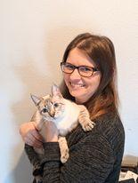 Melissa C with cat